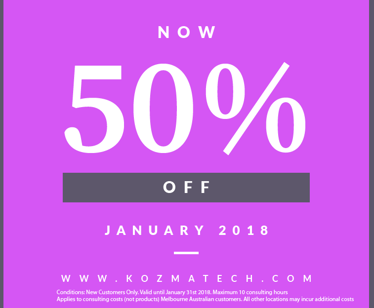 Kozma Technology 50% Off